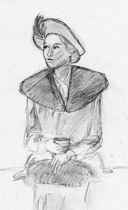 Estelle Graham, waiting for news of Jamie